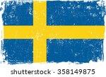 sweden vector grunge flag...   Shutterstock .eps vector #358149875