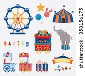 circus icon collection | Shutterstock .eps vector #358156175