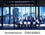 business people working working ... | Shutterstock . vector #358160861