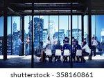 business people working working ... | Shutterstock . vector #358160861
