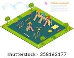children playground. flat 3d... | Shutterstock .eps vector #358163177