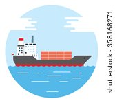 cargo container ship transports ... | Shutterstock .eps vector #358168271