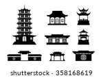 Silhouette Chinese Architectur...