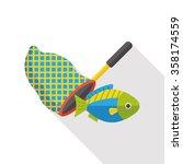 fishing net flat icon | Shutterstock .eps vector #358174559