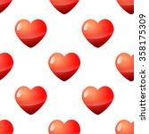 valentine seamless red heart... | Shutterstock .eps vector #358175309