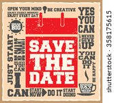 save the date. creative... | Shutterstock .eps vector #358175615