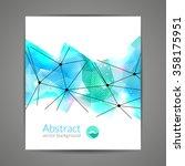 abstract triangular 3d... | Shutterstock .eps vector #358175951