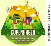 copenhagen   city vector...   Shutterstock .eps vector #358178489
