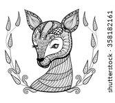 hand drawn ethnic ornamental... | Shutterstock .eps vector #358182161
