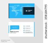creative business card print... | Shutterstock .eps vector #358184795