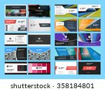 set of creative and clean... | Shutterstock .eps vector #358184801