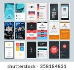 set of creative vertical... | Shutterstock .eps vector #358184831