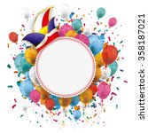 white paper emblem with colored ...   Shutterstock .eps vector #358187021