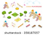 big set of playgrounds elements.... | Shutterstock .eps vector #358187057