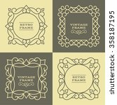 set of monogram line vintage...   Shutterstock .eps vector #358187195