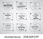valentine day watercolor  ink ... | Shutterstock .eps vector #358189199