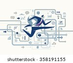 global success. business... | Shutterstock .eps vector #358191155