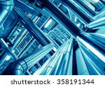 equipment  cables and piping as ... | Shutterstock . vector #358191344