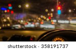 Blur Image Of Inside Cars With...