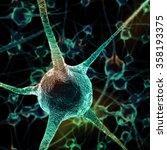 neurons abstract background.... | Shutterstock . vector #358193375