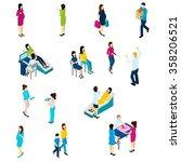pregnancy test symptoms diet... | Shutterstock .eps vector #358206521