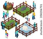 outdoor zoo park with wild... | Shutterstock .eps vector #358206701