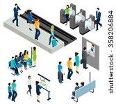 metro underground station... | Shutterstock .eps vector #358206884