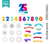 vector set of anniversary... | Shutterstock .eps vector #358210661