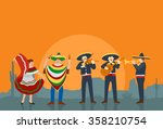 Mexican Musicians And Dancer