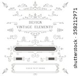 vintage design template ... | Shutterstock . vector #358212971
