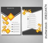abstract vector modern flyers... | Shutterstock .eps vector #358214474