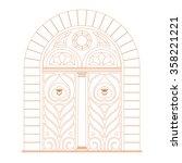 door vintage design top circle... | Shutterstock .eps vector #358221221