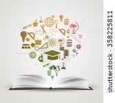 vector background knowledge... | Shutterstock .eps vector #358225811