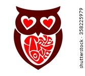 owl love | Shutterstock .eps vector #358225979