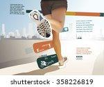 running statistics ... | Shutterstock .eps vector #358226819