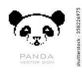 Panda Vector Sign.