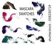 set of 8 flat mascara swatches. ... | Shutterstock .eps vector #358230719