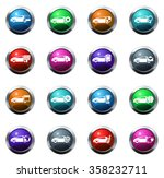 car service round glossy web... | Shutterstock .eps vector #358232711