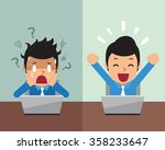cartoon businessman expressing... | Shutterstock .eps vector #358233647