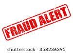 fraud alert red stamp text on...   Shutterstock .eps vector #358236395