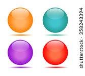 vector glossy buttons. balls... | Shutterstock .eps vector #358243394