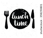 lunch time lettering | Shutterstock .eps vector #358250801