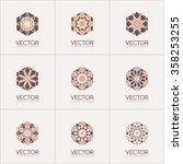 geometric logo template set.... | Shutterstock .eps vector #358253255