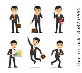 businessman isolated vector | Shutterstock .eps vector #358257995