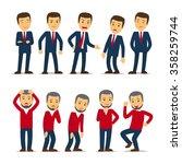 businessman emotions vector   Shutterstock .eps vector #358259744