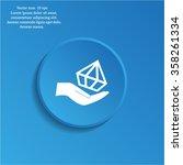 jewelry insurance sign. hand... | Shutterstock .eps vector #358261334
