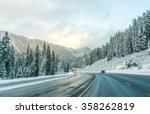 scenic view of the road with... | Shutterstock . vector #358262819