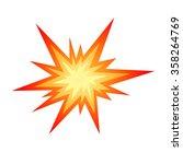 star bursting boom.comic book... | Shutterstock .eps vector #358264769
