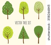 Vector Set Of 6 Different Tree...
