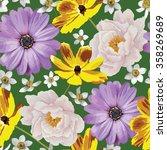 elegance seamless color flower...   Shutterstock .eps vector #358269689
